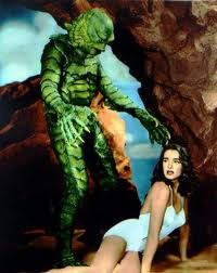 Julie Adams and the Creature From the Black Lagoon